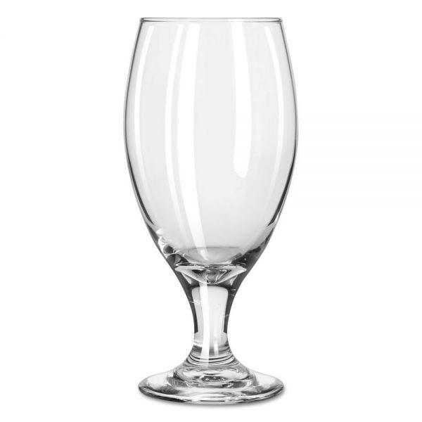 """Libbey Teardrop Glass Stemware, Beer Goblet, 14.75oz, 7"""" Tall"""