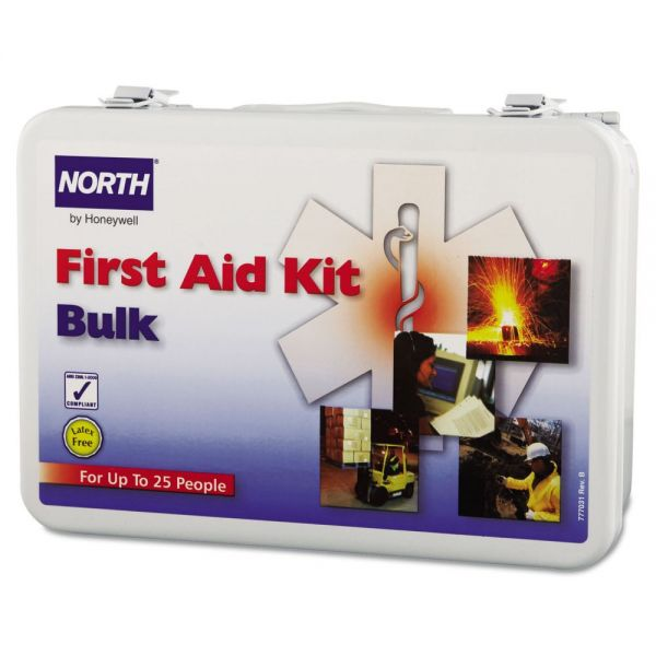 North Safety 25-Person Bulk First Aid Kit, Metal Case