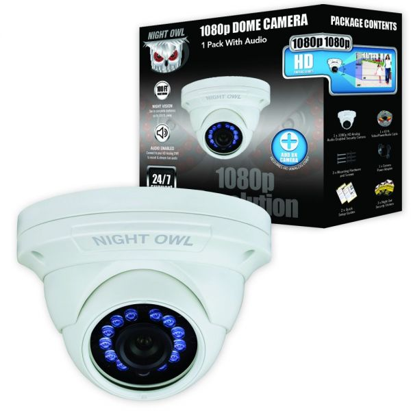 Night Owl CM-HDA10W-DMA 2 Megapixel Surveillance Camera - 1 Pack - Color