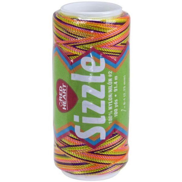 Red Heart Sizzle Nylon Crochet Thread