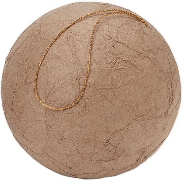 Paper-Mache Wrinkled Ball Ornament