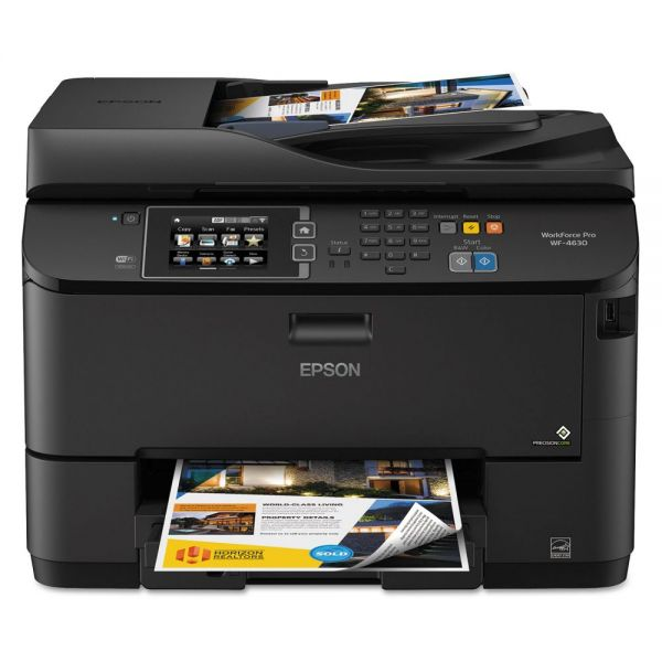 Epson WorkForce 4630 Wireless All-in-One Inkjet Printer, Copy/Fax/Print/Scan