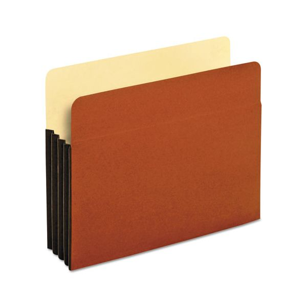 Pendaflex File Pocket with Tyvek, Straight Cut, 1 Pocket, Letter, Brown