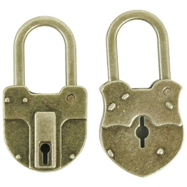 "Treasures Metal Padlocks 1.5""X.75""X.25"" 2/Pkg"