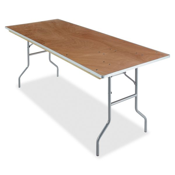 Iceberg Natural Plywood Rectangular Folding Table