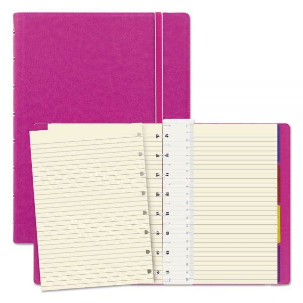 Filofax Notebook, College Rule, Pink Cover, 8 1/4 x 5 13/16, 112 Sheets/Pad