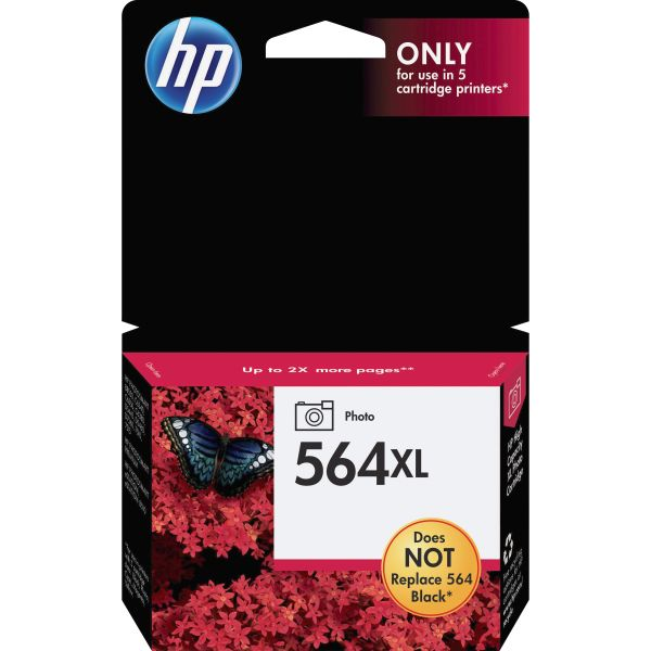 HP 564XL High Yield PHOTO Black Ink Cartridge (CB322WN)