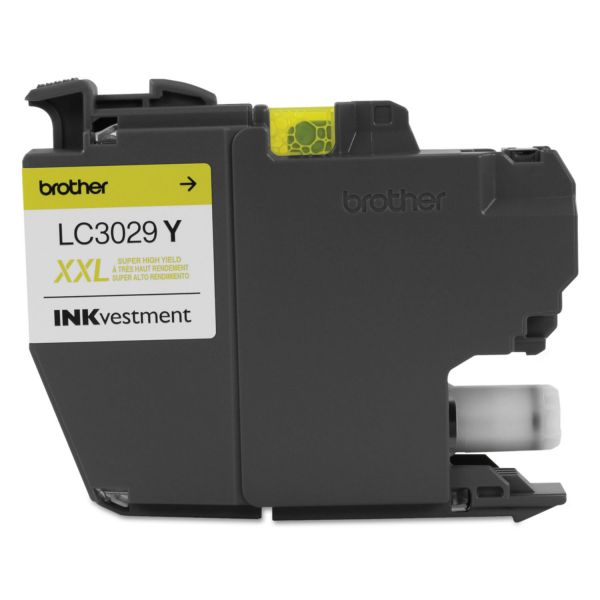 Brother LC3029Y INKvestment Super High-Yield Yellow Ink Cartridge