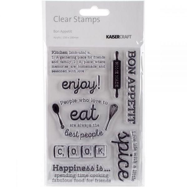 """Bon Appetit Clear Stamps 6""""X4"""""""