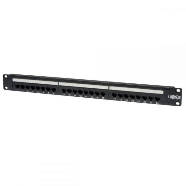 Tripp Lite 24-Port Cat6 Cat5 Patch Panel Rackmount 110 Punch Down RJ45 Ethernet 1URM