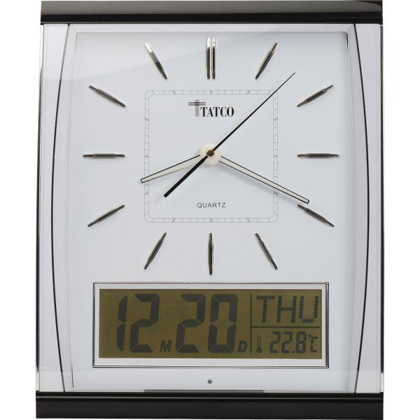 Tatco LCD Inset Elegant Rectangular Wall Clock