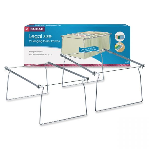 "Smead Hanging Folder Frame, Legal Size, 23-27"" Long, Steel, Two Per Pack"
