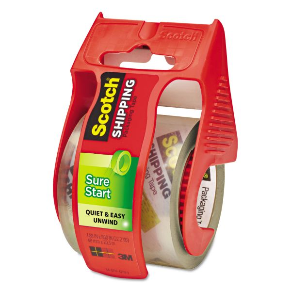 Scotch Sure Start Packing Tape with Dispenser