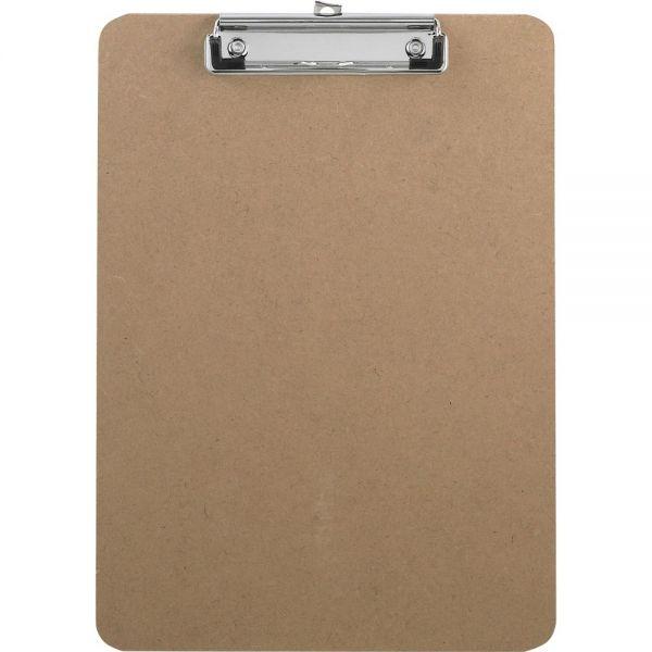Business Source Flat Clip Hardboard Clipboard