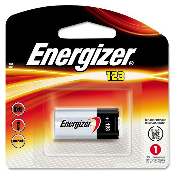Energizer Lithium Photo Battery, 123, 3V