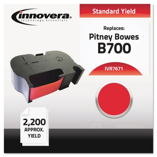 Innovera 7671 Compatible Postal Meter Thermal Transfer Cartridge Ribbon, 1 Ea., Red