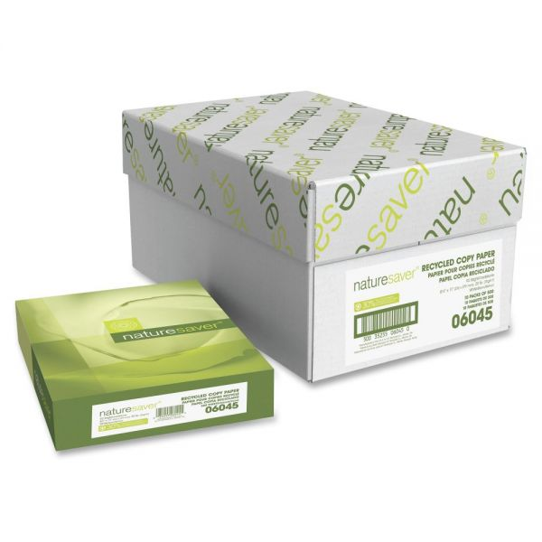 Nature Saver Recycled White Copy Paper