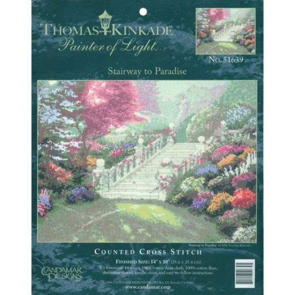 Thomas Kinkade Stairway To Paradise Counted Cross Stitch Kit