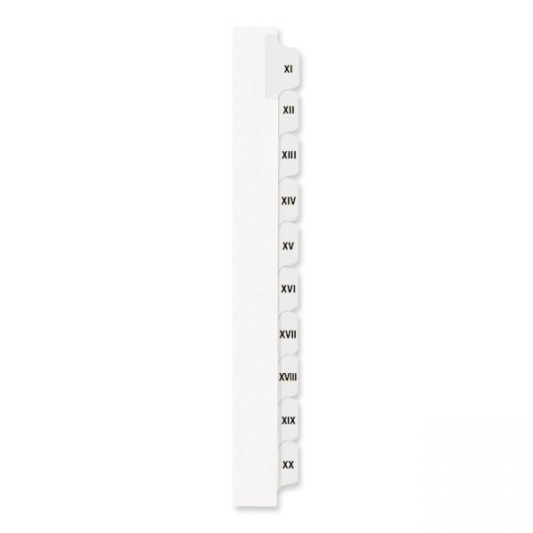 Avery Side Tab Roman Numeral Index Dividers