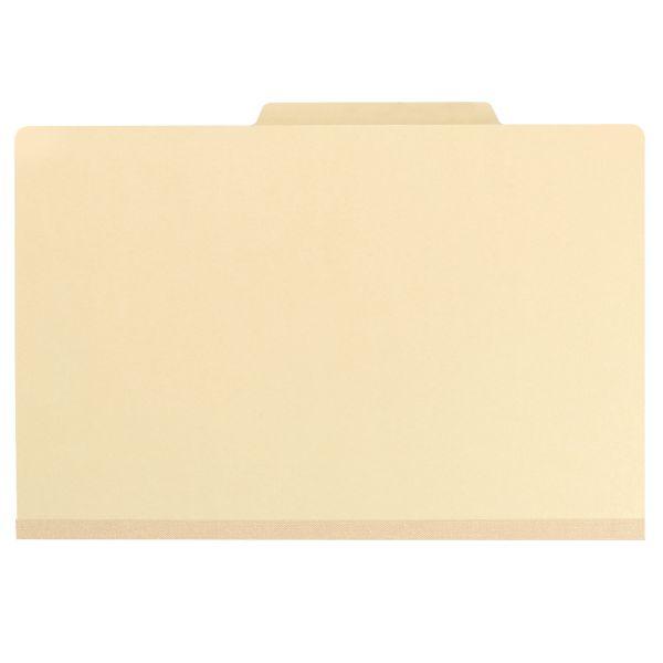 Smead Manila 1-Divider Classification Folders