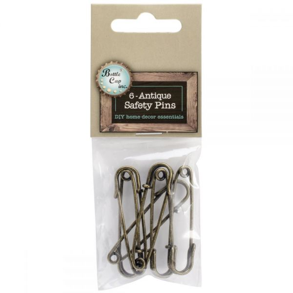 Antique Safety Pins 6/Pkg