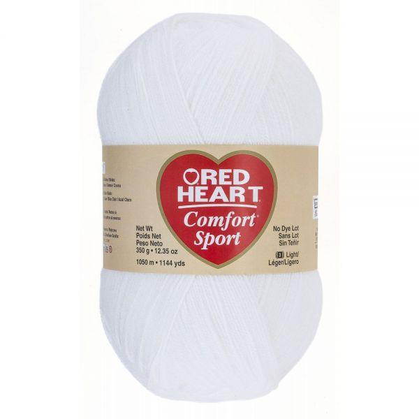 Red Heart Comfort Sport Yarn - White