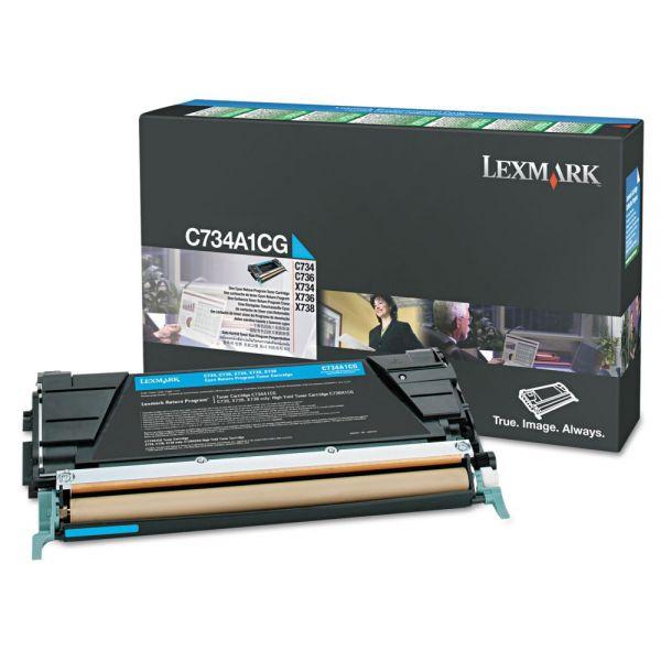 Lexmark X748H1CG Cyan High Yield Return Program Toner Cartridge