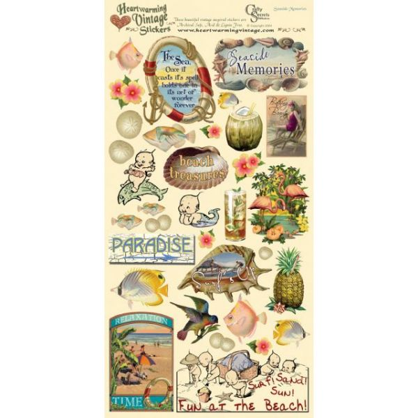 Crafty Secrets Heartwarming Vintage Collection Cardstock Stickers