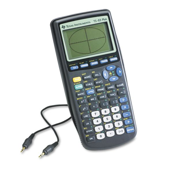 Texas Instruments TI-83Plus Programmable Graphing Calculator, 10-Digit LCD