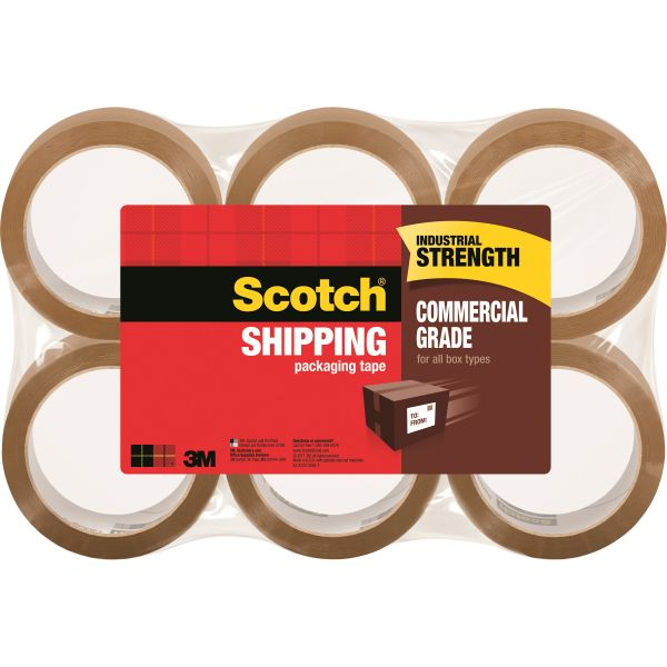 "Scotch Commercial Grade Shipping Packaging Tape, 1.88"" x 54.60 yds"