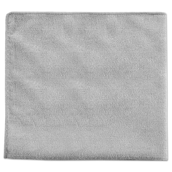 Rubbermaid Commercial Executive Multi-Purpose Microfiber Cloths, Gray, 16 x 16, 24/Pack