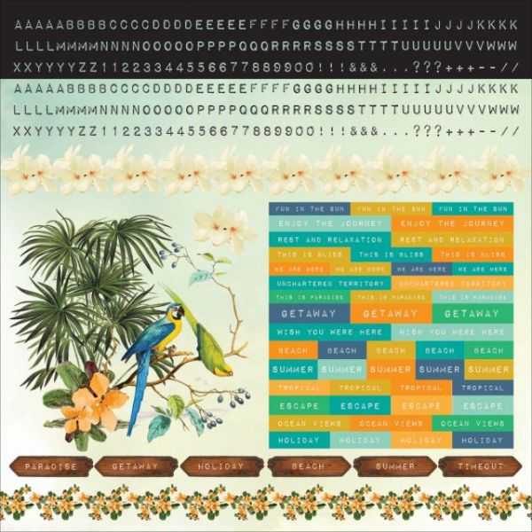 "Paradiso Cardstock Stickers 12""X12"""