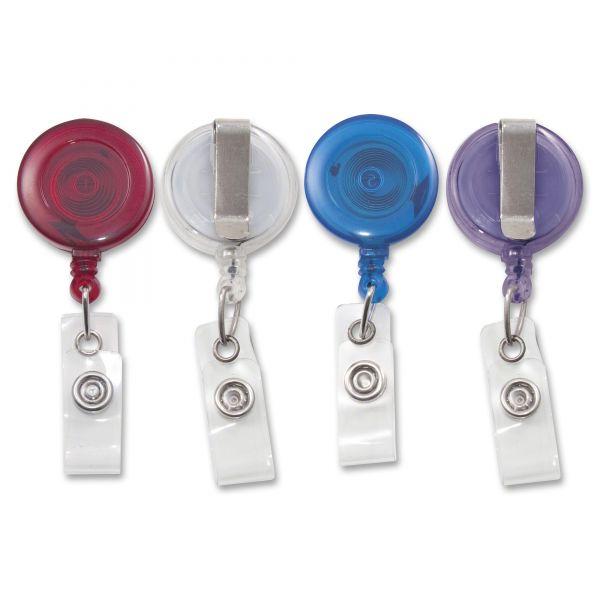 Advantus Translucent Retractable ID Card Reels