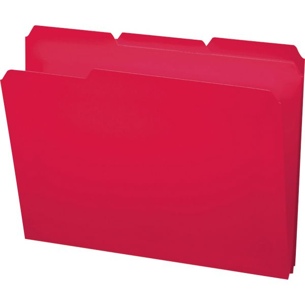 Smead Red Colored Poly File Folders