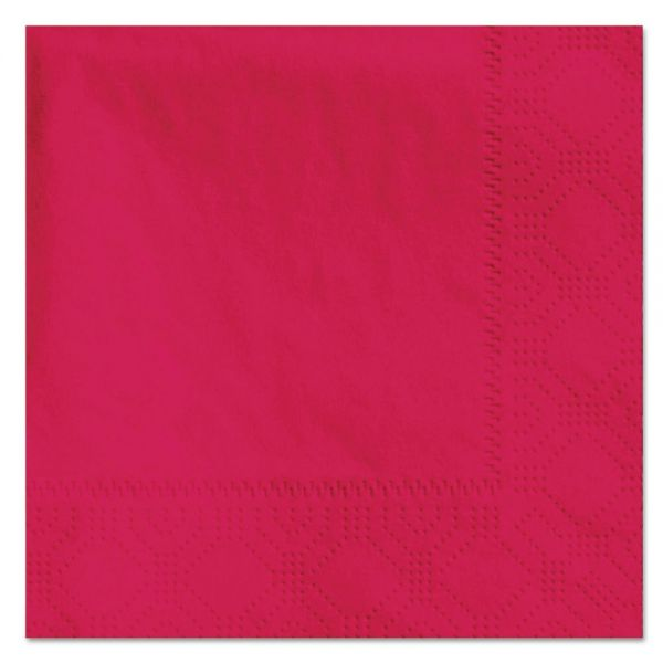 Hoffmaster Beverage Napkins, 2-Ply, 9 1/2 x 9 1/2, Red, 1000/Carton