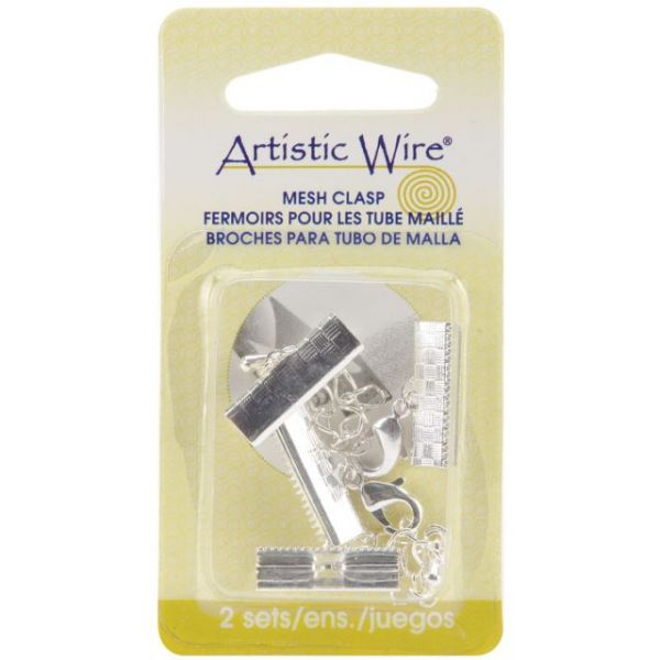 Beadalon Artistic Wire Mesh Clasps 18mm 2 Sets/Pkg