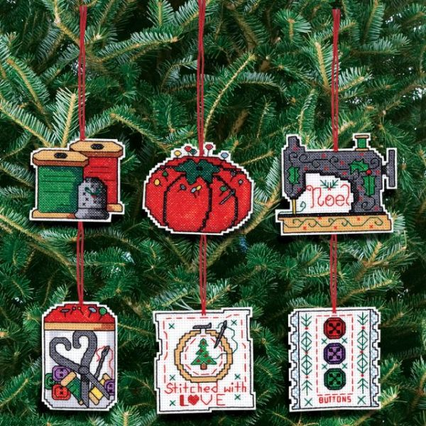 Sewing Ornaments Counted Cross Stitch Kit