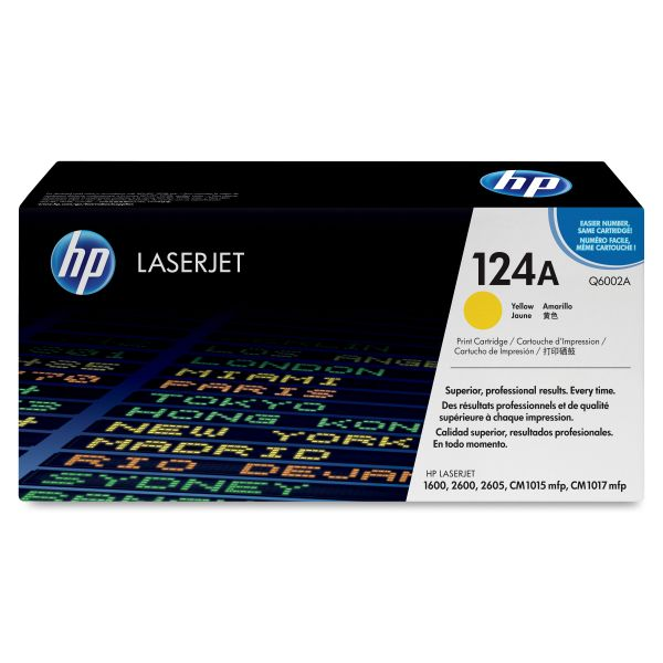 HP 124A Yellow Toner Cartridge (Q6002A)