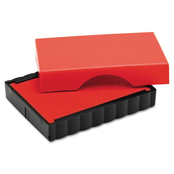 Identity Group Trodat T4911 Message Replacement Pad, 9/16 x 1 1/2, Red