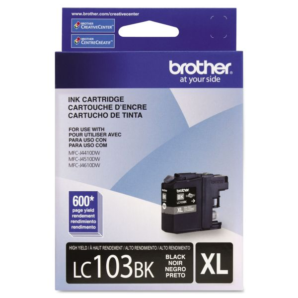 Brother LC103BK Black High Yield Ink Cartridge