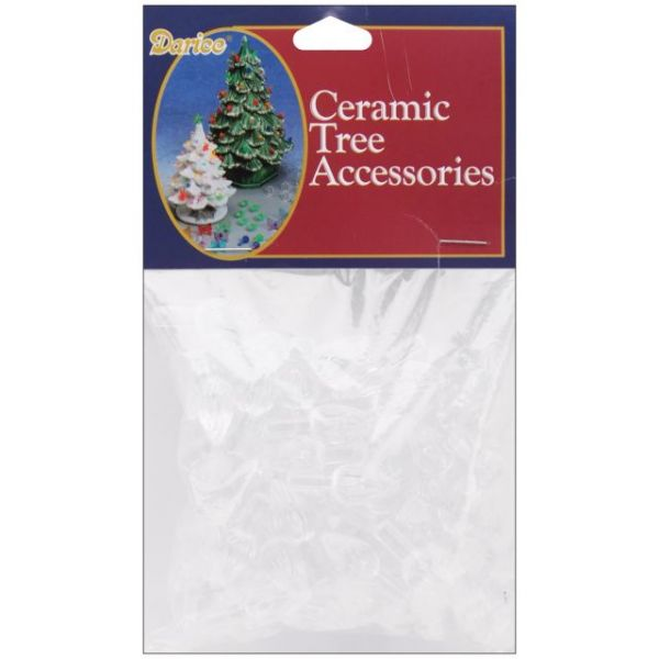 "Ceramic Christmas Tree Bulbs .625"" 100/Pkg"