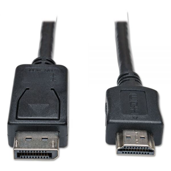 Tripp Lite DisplayPort Cable, HDMI M/M, Black