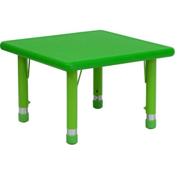 Flash Furniture Height Adjustable Square Activity Table