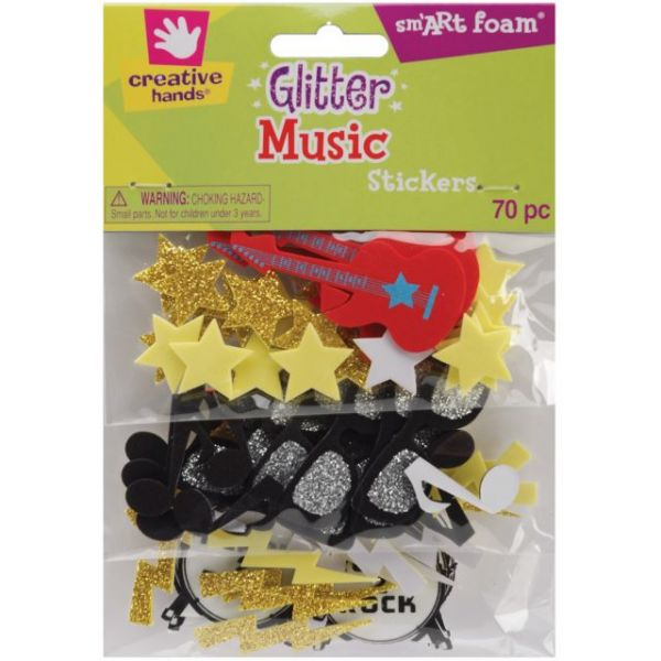 Foam Glitter Stickers 70/Pkg