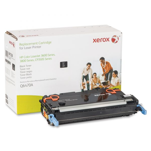 Xerox Remanufactured HP Q6470A Black Toner Cartridge
