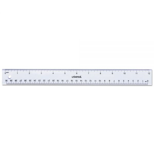 "Universal 12"" Clear Ruler"