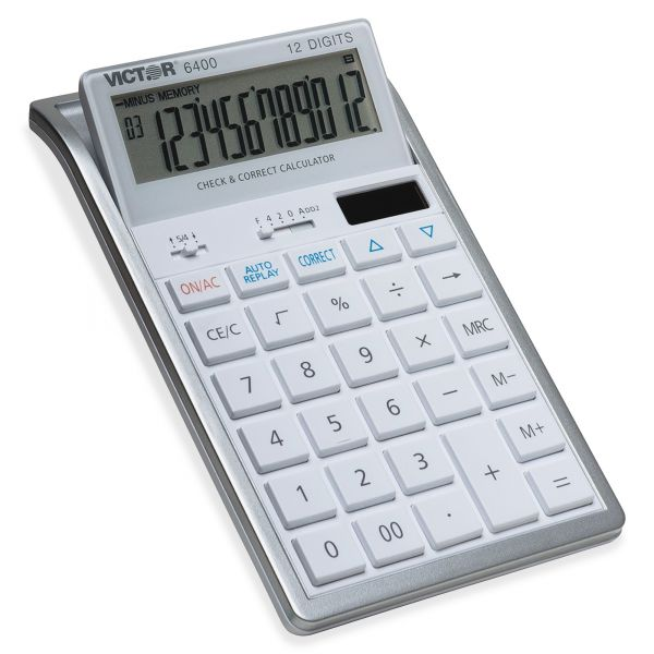 Victor 6400 Desktop Calculator, 12-Digit LCD