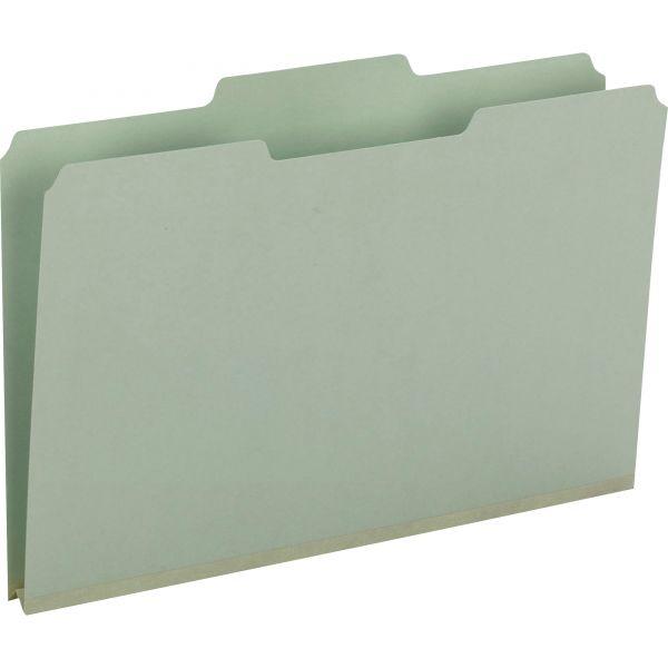 Smead Gray/Green Pressboard File Folders