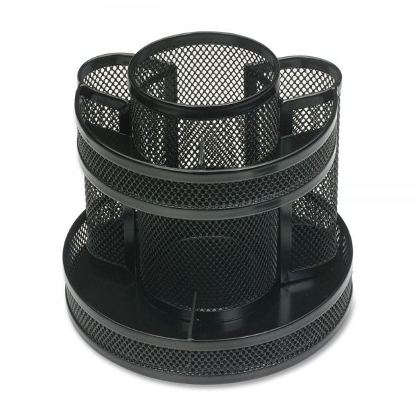 Business Source Rotary Mesh Desktop Pen Organizer