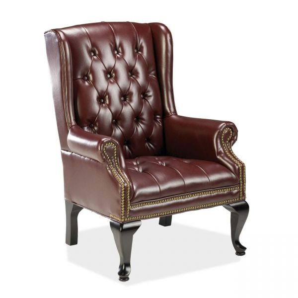 Lorell 777 QA Queen Anne Wing-Back Reception Chair
